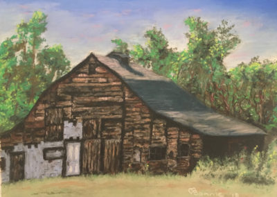 Bonnie Askowitz, Barn 3, 2019, soft pastel, 9 x 12 inches