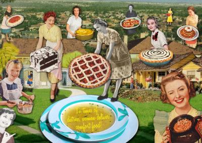 """Donna Catanzaro, Women Give Comfort, Digital Collage, 18"""" x 24"""", $200"""