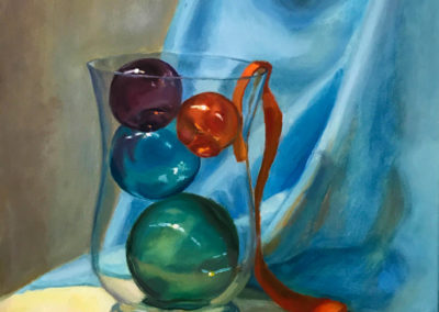 Heather Lord, Captured Spheres 1, 2019, oil on canvas