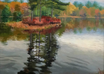 Heather Lord, Fifth Shaker Pond, oil on canvas