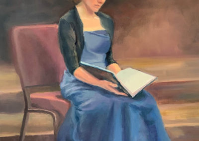 "Heather, Lord, Waiting to Sing, Oil on Canvas, 16""x 20"""