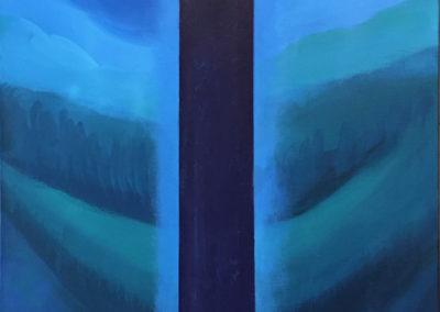 "C. M. Judge, Threshold #2, acrylic on canvas, 24"" x 20"" x 1.5"", $300"