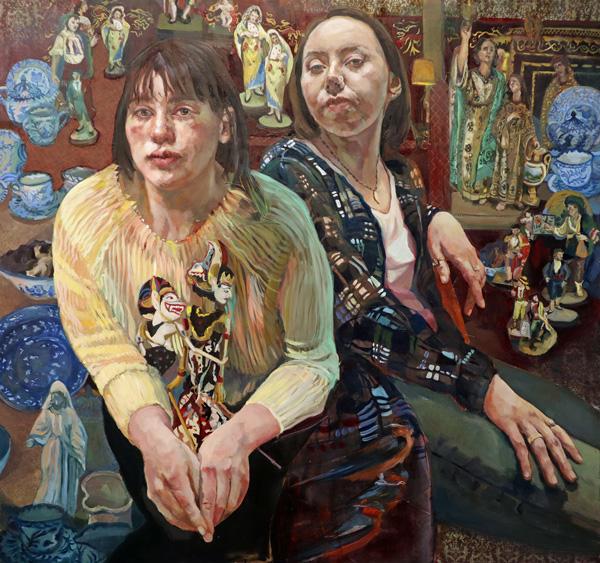 "Patricia, Schappler, City of Taras, Collage, 48""x 48"","