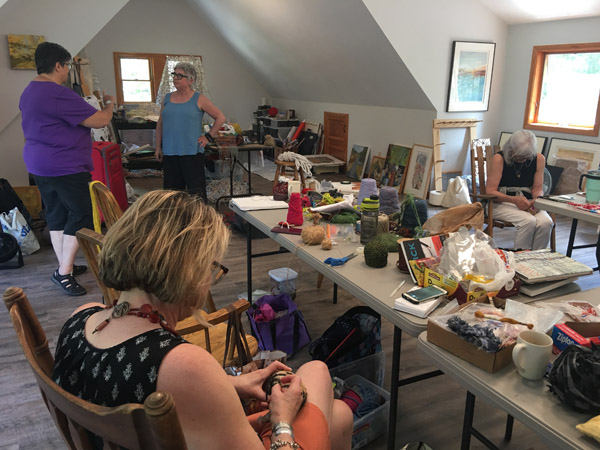 Meredith WCA members host Sculptural Crochet Workshop with Jodi Colella
