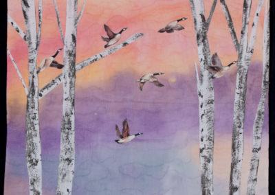 Jodi Scaltreto, Last Leaves Of Autumn , 2015, fiber, 19 ¾ x 20 ½ inches