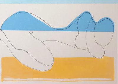 "Sharon, Morrison, Woman, Giclee, watercolor, and acrylic, 6""x 8"""