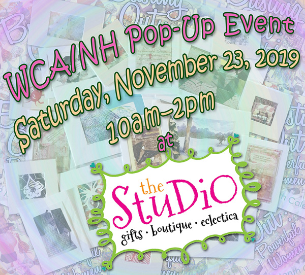 Announcing! WCA/NH Pop-up Show at The Studio in Laconia