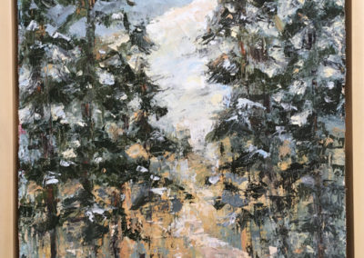 """Wendy Wilson, Winter on the Bonds, oil painting, 11"""" x 14"""""""