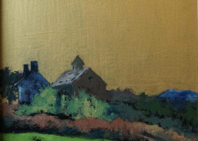 """Linda Graham, The Farm, oil on canvas, 10"""" x 12"""", NFS"""