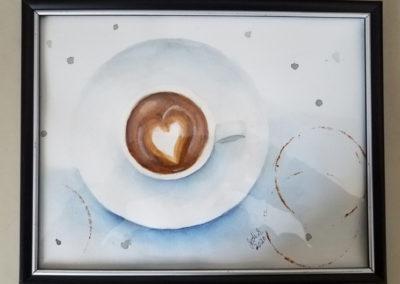 """Jodi Scaltreto, Cup Of Love, Watercolor, 8 1/2"""" X 10 1/2"""", $100"""